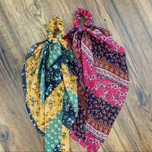 NWOT Anthropologie Hair Tie Scarves